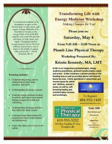 Transforming Life with Energy Medicine Flyer 3.7